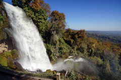 Waterfall in the park of the city of Edessa Royalty Free Stock Photos