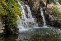 Waterfall in the park Royalty Free Stock Image
