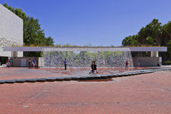 Waterfall - Park of Nations - Lisbon Stock Photo