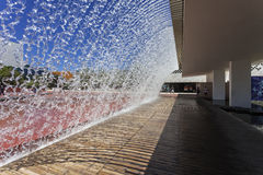 Waterfall - Park of Nations - Lisbon Stock Photos