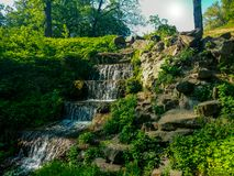 Waterfall in park royalty free stock photography