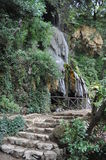 Waterfall in the park. In Sardinia laconi plenty of water near the noisy path Stock Photography