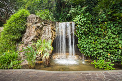 Waterfall in park Stock Images