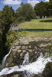 Waterfall and park Royalty Free Stock Image