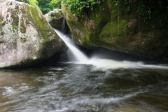 Waterfall in Parque Nacional da Serra dos Orgaos in Guapimirim, royalty free stock photos