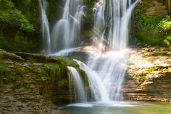 Waterfall of Peñaladros Royalty Free Stock Images