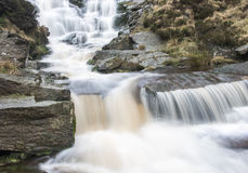 Waterfall in the Peak District National Park Royalty Free Stock Photography