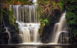 Penllergare waterfalls Swansea UK royalty free stock photo