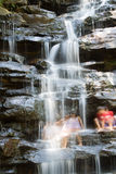 Waterfall people Royalty Free Stock Photography