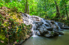 Waterfall. In Phang-Nga Thailand Stock Photos