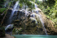Waterfall, Philippines. Royalty Free Stock Images