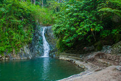 Waterfall, Philippines. Valencia, island Negros. Stock Images