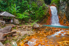 Waterfall, Philippines. Valencia, island Negros. Royalty Free Stock Images