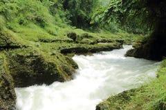 Waterfall in Phokara long exposure Stock Photos