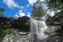 Waterfall  from Phu kradueng. In Thailand Royalty Free Stock Image