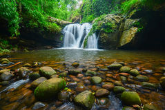 Waterfall at Phu Soi Dao. Waterfall at Phu Soi Dao in Uttaradit, Thailand Royalty Free Stock Photography
