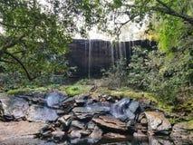 Waterfall at Phukradueng, Loei, Thailand. Waterfall in tropical rain-forest. Waterfall at Phukradueng, Loei, Thailand stock image