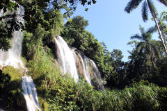 Waterfall. Picture a waterfall in one of the parks of Cuba royalty free stock photography