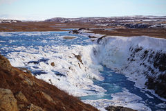 Gulfoss in winter. Picture taken on the waterfall Gulfoss (Iceland) in the winter Stock Image