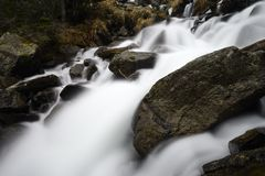Waterfall. Picuture whit long exposure stock photo