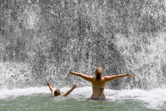 Waterfall Play Royalty Free Stock Images