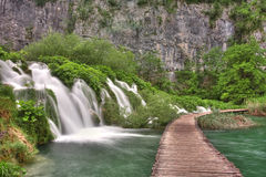 Waterfall from Plitvice royalty free stock photo