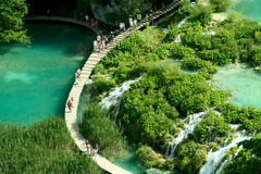 Waterfall in the Plitvice Royalty Free Stock Photography