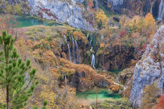Waterfall in Plitvice lake national park Stock Photos