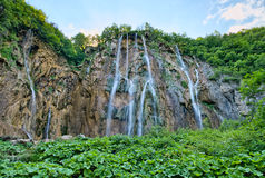 Waterfall in Plitvice Lakes Stock Photography