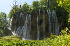 Waterfall of the plitvice lakes Stock Photography