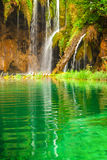 Waterfall at Plitvice Lakes Stock Images