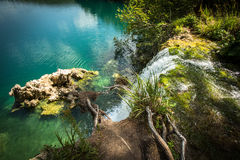 Waterfall in the Plitvice Lakes Stock Photography