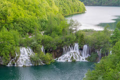 Waterfall the Plitvice Lakes Royalty Free Stock Images