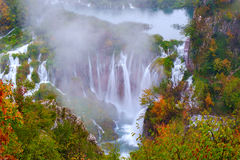 Waterfall the Plitvice Lakes Royalty Free Stock Image