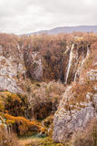 Waterfall in the Plitvice Lakes National Park Royalty Free Stock Images