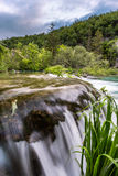 Waterfall in Plitvice Lakes National Park Stock Images