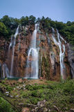 Waterfall in Plitvice Lakes National Park Royalty Free Stock Image