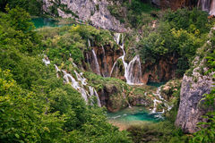 Waterfall in Plitvice Lakes National Park Stock Image