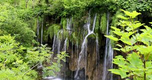 Waterfall in Plitvice Lakes National Park stock footage