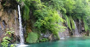 Waterfall in Plitvice Lakes National Park stock video footage