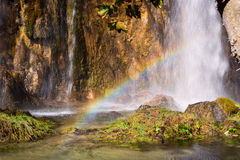Waterfall in the Plitvice Lakes National Park Stock Photography