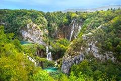 Waterfall in Plitvice Lakes National Park. Croatia, Europe royalty free stock image