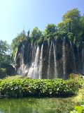 Waterfall in Plitvice lakes national park Royalty Free Stock Photo
