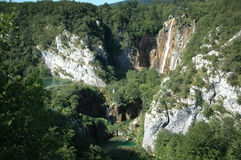 Waterfall. Plitvice Lakes National Park Royalty Free Stock Photos
