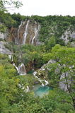 Waterfall at Plitvice Lakes National Park Royalty Free Stock Image