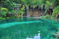Waterfall on Plitvice lakes Royalty Free Stock Images