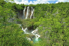 Waterfall in Plitvice lakes park Stock Photography