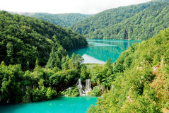 Waterfall at Plitvice national park Royalty Free Stock Image