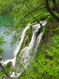 Waterfall in Plitvice National Park Royalty Free Stock Image