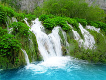 Waterfall in Plitvice National Park Royalty Free Stock Photography